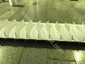 تسمه نوار نقاله PVC و PU ساده و پله دار (4)